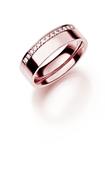 14K rosegouden trouwring  diamant  Dophei H218R (1036502)