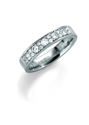 Palladium trouwring  diamant Anemoon H208P (1036526)