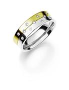 14 K bicolour trouwring  diamant Lathyrus H225 (1036535)
