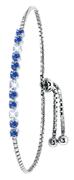 Zilveren armband Swarovski Crystal sapphire (1037010)