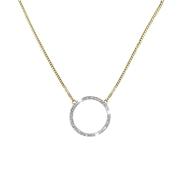 14 Karaat geelgouden ketting cirkel met diamant (1042041)