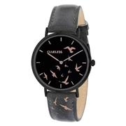 Clueless-Uhr mit schwarzem Lederarmband (1043572)