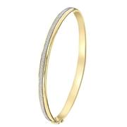 Glitzernder Bangle-Armreif, 375 Gold (1045292)