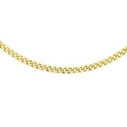 9 Karaat ketting gourmet schakel diamond cut (1047259)