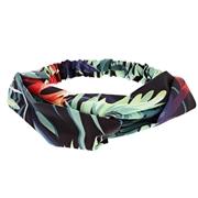Stoffen haarband in tropcial print (1051753)