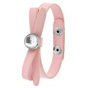 Roze byoux armbandje strik met steentje (1051755)