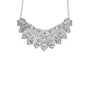 Zilverkleurige byoux ketting boho (1052830)