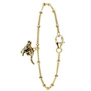 Armband aus vergoldetem 925 Silber, Leopard (1054529)