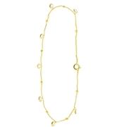 Goldplated enkelband Ronde zirkonia bedels (1056277)