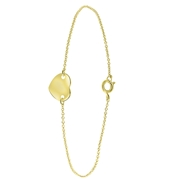 Goldplated enkelband met hart (1056279)