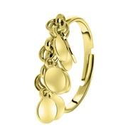 Goudkleurige byoux ring met muntjes (1056362)