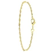 Goudkleurige enkelband met gedraaide schakel (1056710)