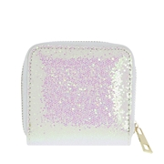 Witte portemonnee met glitter (1057101)