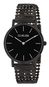 Clueless Armbanduhr mit schwarzem Edelstahlband (1057327)