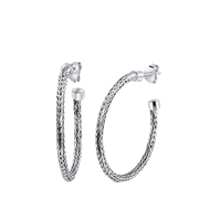 Ohrringe, 925 Silber, Spigaglied, 30 mm (1057364)