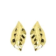 Goldfarbene Bijoux-Ohrringe, Blatt (1057783)