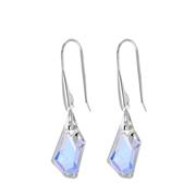 Zilveren oorbellen Swarovski kristal AB (1057932)