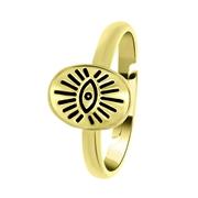 Goudkleurige byoux ring met ovale zegel (1058097)