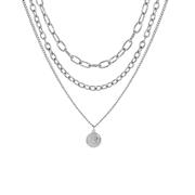 Zilverkleurige byoux statement ketting  (1058212)