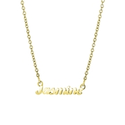 Namenskette, Edelstahl, vergoldet, minimalistisch, kursiv (1058472)
