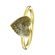 Ring, 925 Silber, vergoldet, Herz mit Fingerabdruck (1058497)