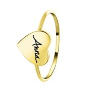Zilveren ring gold hart fotohandschrift gravering (1058511)