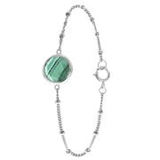 Zilveren armband Gemstone malachite (1058605)