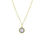 Zilveren ketting&hanger gold Gemstone labradorite (1058642)