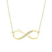Namenskette, 925 Silber, vergoldet, Infinity, Zirkonia (1059063)
