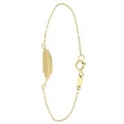 14 karaat geelgouden armband met veer (1059758)