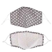 Fashion mondmasker grijs met witte stippen (1060009)