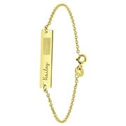 Zilveren armband gold bar vingerafdruk&gravure (1060197)