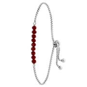 Armband, Edelstahl, mit roten Perlen (1060744)