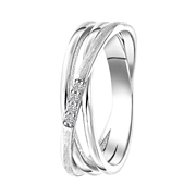Ring, 925 Silber, matt/glänzend, mit Zirkonia (1060984)