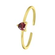 Zilveren goldplated ring Love month stone hart (1061658)