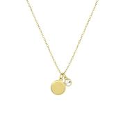 Zilveren gold ketting SwarovskiCrystalBirthstone (1061690)