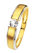 Bicolor-Ring in Gold mit Zirkonia matt/glänzend (26710581)