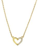 Eve goldplated ketting hart met zirkonia (1020976)