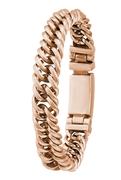 Stahlgliederarmband rotvergoldet (1024143)