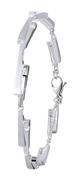 Zilveren armband mat/glans zirkonia (1027029)