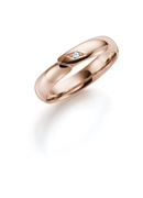 14K rose gouden trouwring diamant Phlox Dames H19R (1026248)