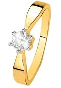 Geelgouden  solitair ring met diamant (0,40ct.) (1037199)