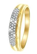 14 Karaat geelgouden ring met diamant (1037601)