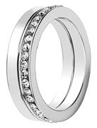 Buckley London rhodiumplated ring kristal large (1030425)
