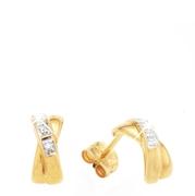 Gelbgoldene Ohrringe mit Diamanten (1007926)