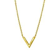 Silber-Kette mit V vergoldet (1044418)