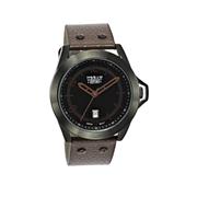 Urban Story Armbanduhr mit einem braunen Lederband (1044408)