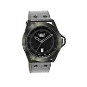 Urban Story Armbanduhr mit einem grauen Lederband (1044409)