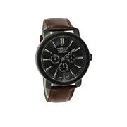 Urban Story Armbanduhr mit einem braunen Lederband (1044414)