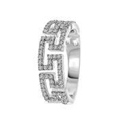 14 Karaat witgouden ring fantasie met diamant (1047323)